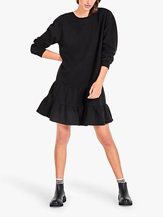 hush Yvie Sweater Mini Dress, Black