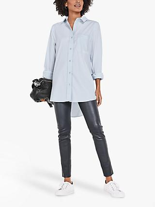 hush Oversized Shirt, Blue