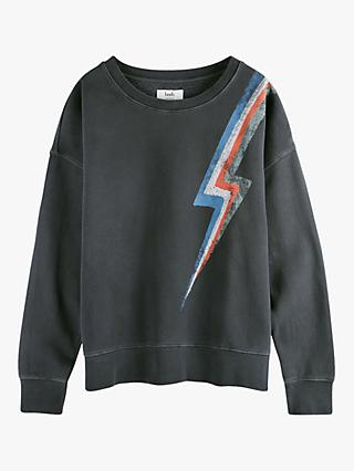hush Lightning Sweatshirt, Black