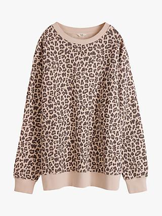 hush Leopard Sweat Top, Multi