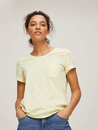 John Lewis & Partners Scoop Neck Gather Back T-Shirt