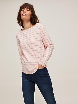 John Lewis & Partners Long Sleeve Stripe Cotton Jersey Top