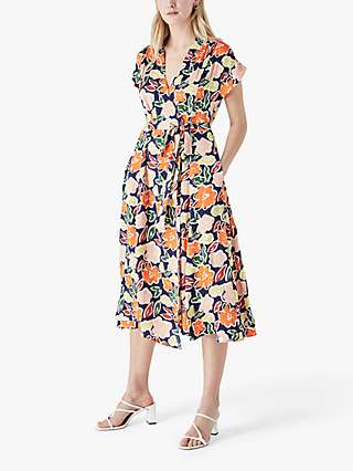 Finery Wilma Adalynn Floral Midi Dress, Multi