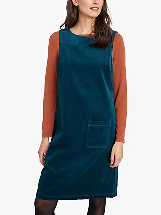 Seasalt Safflower Cord Pinafore Dress, Dark Storm Swatch