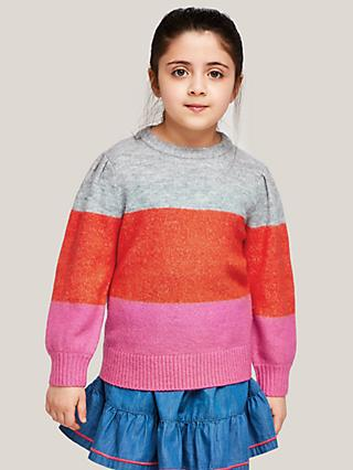 John Lewis & Partners Girls' Colour Block Jumper, Multi