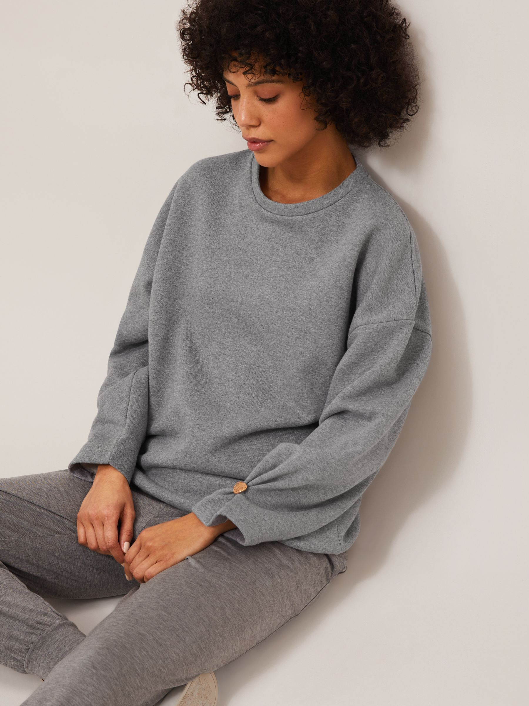 Mother of Pearl Organic Cotton Pleat Sleeve Plain Jumper