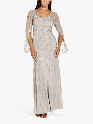Adrianna Papell Beaded Covered Mermaid Maxi Gown, Marble