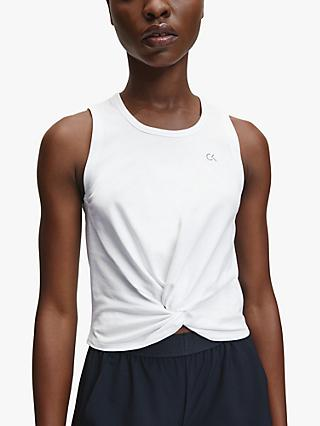 Calvin Klein Performance Twist Tank Top, Bright White