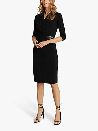 Reiss Luisa Knee Length Dress, Black
