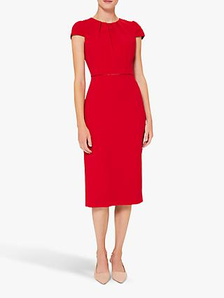 Hobbs Joan Knee Length Shift Dress, Poppy Red