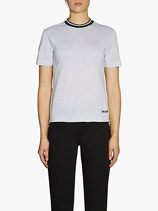 Calvin Klein Performance Metallic Stripe Tee, Bright White
