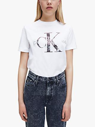 Calvin Klein New York Print Tee, Bright White