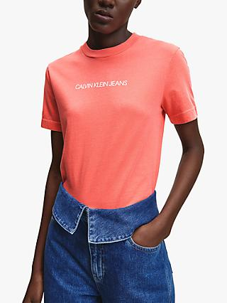 Calvin Klein Performance Shrunken Institution T-Shirt, Island Punch