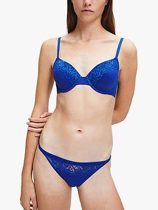 Calvin Klein Lace Bikini Briefs, Navy Blue