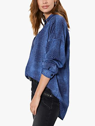 Mint Velvet Oversized Abstract Shirt, Multi