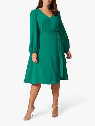 Studio 8 Camille Bell Knee Length Dress, Emerald