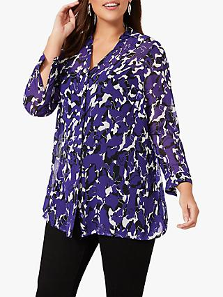 Studio 8 Annalisa Abstract Blouse, Purple/Multi