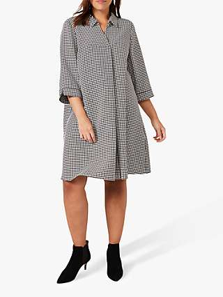 Studio 8 Joanne Spring Abstract Knee Length Dress, Black/White