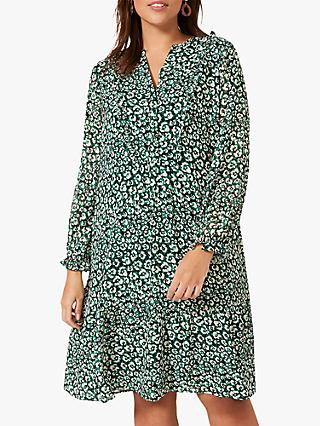 Studio 8 Joanne Sawyer Spring Floral Knee Length Dress, Green/Multi
