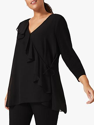 Studio 8 Bethan Ruffle Top, Black