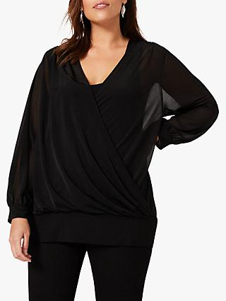 Studio 8 Hazel Wrap Top, Black