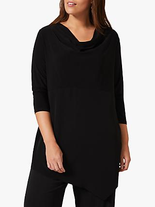 Studio 8 Dani Dip Hem Cowl Neck Top, Black
