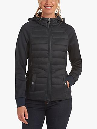 Barbour Spurn Quilted Sweatshirt Jacket, Navy