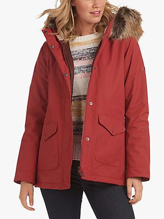 Barbour Bournemouth Waterproof Jacket, Burnt Red