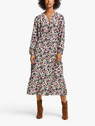 AND/OR Evita Crowded Floral Dress, Natural