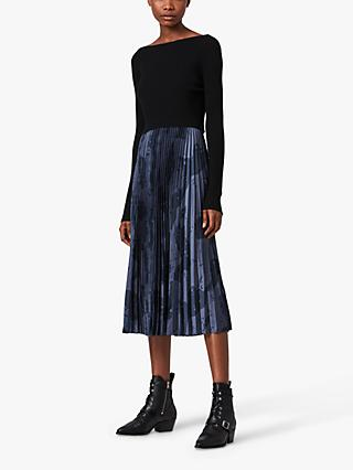 AllSaints Lera Acoustic 2-In-1 Midi Dress