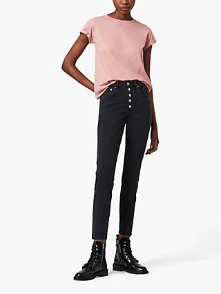 AllSaints Anna Short Sleeve Crew Neck T-Shirt