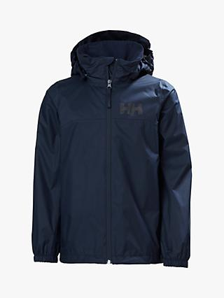 Helly Hansen Boys' Urban Rain Jacket, Navy