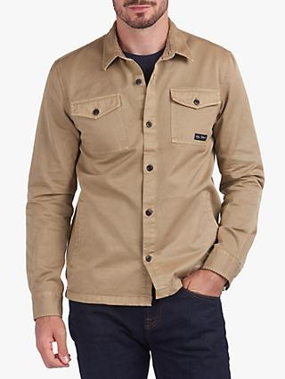 Barbour Fogle Wilderness Colliford Overshirt, Military Brown