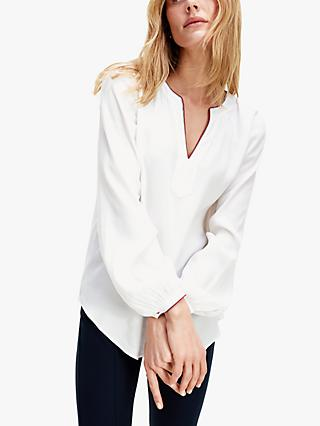 Tommy Hilfiger V-Neck Blouse, Ecru