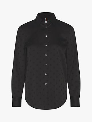 Tommy Hilfiger Polka Dot Blouse, Black