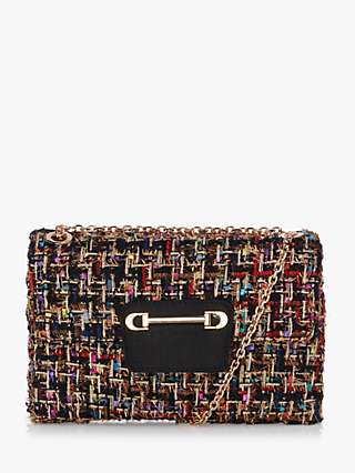 Dune Brilliantly Textured Clutch Bag, Black/Multi