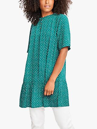 White Stuff Twinning Spot Print Tunic, Teal/Multi