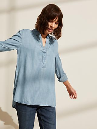 John Lewis & Partners Denim Tunic, Light Wash