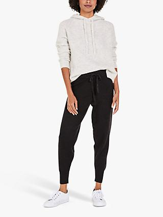 hush Farrah Knitted Joggers, Black