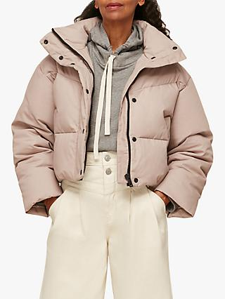 Whistles Short Puffer Coat, Stone