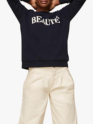 Whistles Beauté Logo Sweatshirt, Navy