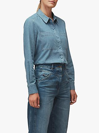 Whistles Soki Chambray Shirt, Denim