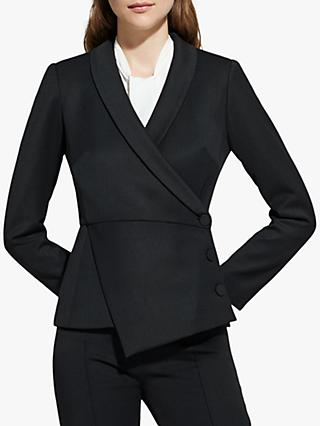 The Fold Wool Blend Asymmetric Tuxedo Jacket