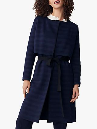 The Fold Cherbury Knitted Coat, Navy Stripe