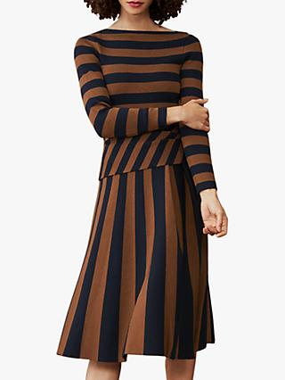 The Fold Camel Stripe Midi Dress, Multi