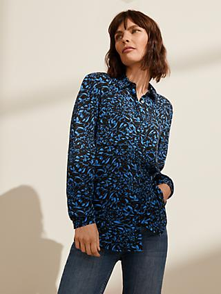 John Lewis & Partners Pebble Print Shirt, Blue/Multi