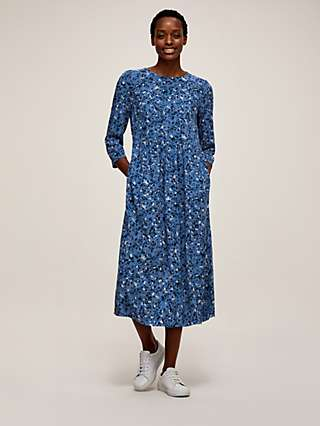John Lewis & Partners Ditsy Floral Midi Dress, Blue
