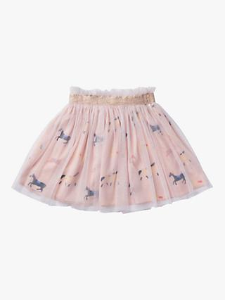 Stych Girls' Carousel Embroidered Skirt, Light Purple