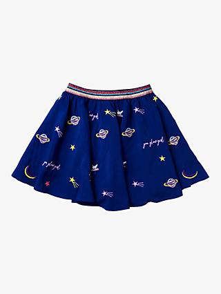 Stych Girls' Glow Girl Embroidered Skirt, Blue
