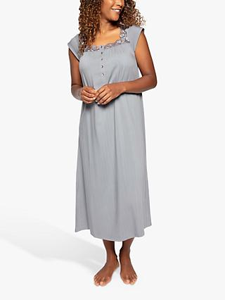 Nora Rose by Cyberjammies Juliette Floral Lace Square Neck Nightdress, Grey